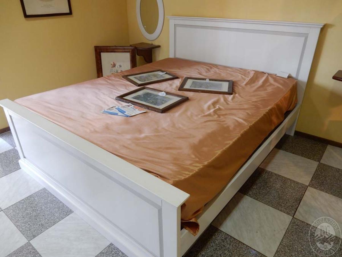 Rif letto matrimoniale in legno bianco decapato vendita online
