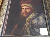 Lotto 3: Olio su tela raffigurante uomo anziano
